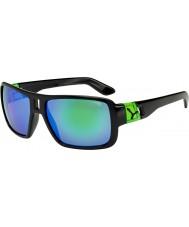 Cebe Lam skinnende sorte grønne solbriller
