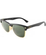 RayBan Rb4175 57 Clubmaster overdimensionerede demi skinnende sort-guld 877 solbriller
