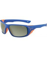 Cebe Jorasses store matte blå appelsin variochrom peak flash spejl solbriller