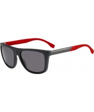 HUGO BOSS Mens boss 0834-s vvs 3h mørkegrå rød polariserede solbriller