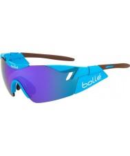Bolle 6. sans AG2R skinnende brune blå-violette solbriller