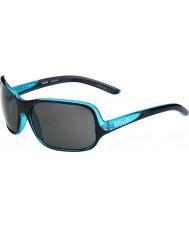 Bolle Kassia skinnende sort blå polariseret TNS-solbriller