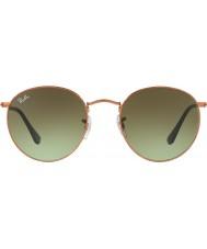 RayBan Rb3447 53 runde metal skinnende medium bronze 9002a6 solbriller