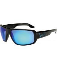 Cebe Maori skinnende sort blå solbriller