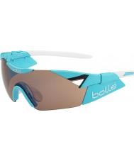 Bolle 6. sans s skinnende blå modulator steg pistol solbriller