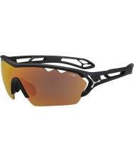 Cebe S-track mono store matsort 1500 grå spejl appelsin solbriller med klart udskiftning linse