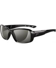 Cebe S-kiss skinnende sorte solbriller