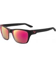 Cebe Hacker skinnende sorte 1500 grå flash spejl lyserøde solbriller