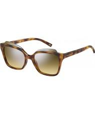 Marc Jacobs Ladies MARC 106-s N36 gg havana sølv spejl solbriller