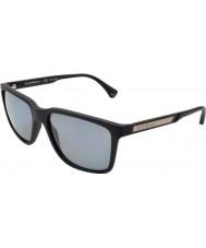Emporio Armani Ea4047 56 moderne sort gummi 506.381 polariseret solbriller