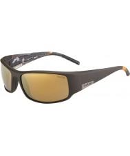 Bolle Kong mat brun havet polariseret indre guld solbriller