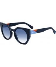 Fendi Dame facetter ff 0151-s pjp u3 solbriller