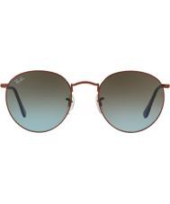 RayBan Rb3447 53 runde metal skinnende mørk bronze 900396 solbriller