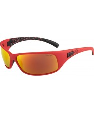 Bolle Rekyl matte røde polariseret TNS brand solbriller
