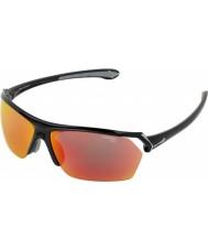Cebe Wild skinnende sort flerlags solbriller