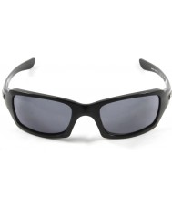 Oakley Oo9238-04 femmere kvadreret poleret sort - grå solbriller