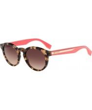 Fendi Farve blok ff 0085-s hK3 d8 havana lyserøde solbriller