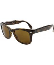 RayBan Rb4105 50 folde wayfarer lys skildpaddeskal 710 solbriller