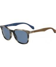 HUGO BOSS Mens boss 0843-s IWF 9a horn brune blå solbriller