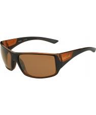 Bolle Tigersnake skinnende sort mat brun polariseret sandsten pistol solbriller