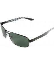 RayBan Rb8316 62 tech kulfiber sort grøn 002-N5 polariserede solbriller