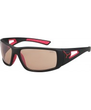 Cebe Session mat sort rød variochrom PERFO solbriller