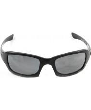 Oakley Oo9238-06 femmere kvadreret poleret sort - sort iridium polariserede solbriller
