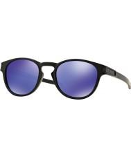 Oakley Oo9265-06 låsen mat sort - violet iridium solbriller