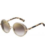 Jimmy Choo Ladies Andie-s j7a nh guld nude havana guld spejl solbriller