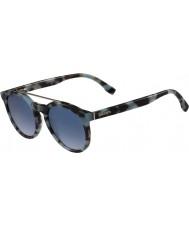 Lacoste L821s azurblå havana solbriller