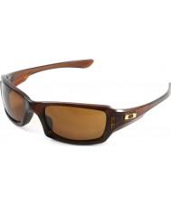 Oakley Oo9238-07 femmere kvadreret poleret rootbeer - mørke bronze solbriller