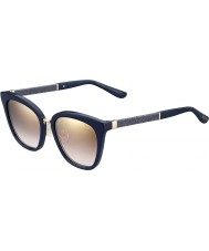 Jimmy Choo Ladies Fabry-s KCA nh blå glitrende guld spejl solbriller
