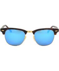 RayBan Rb3016 clubmaster sand skildpadde - blå spejl