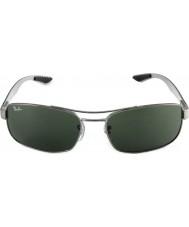 RayBan Rb8316 62 tech kulfiber rødgods grøn 004 solbriller