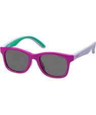 Polaroid Kids pld8001-s T37 y2 fuchsia lilla polariserede solbriller