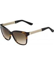 Jimmy Choo Dame Cora-s fa5 jd havana glitter solbriller
