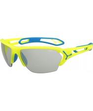 Cebe S-track store pro neon gul variochrom PERFO solbriller
