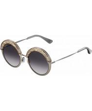 Jimmy Choo Dame Gotha-s 68i 9c 50 nude palladium solbriller