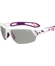 Cebe S-track medium hvid lilla variochrom PERFO solbriller