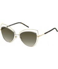Marc Jacobs Ladies MARC 8-s APQ ha guld mørk havana solbriller