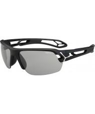 Cebe S-track medium mat sort variochrom PERFO solbriller