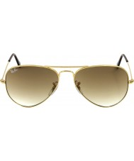 RayBan RB3025 58 aviator large metal guld 001-51 solbriller