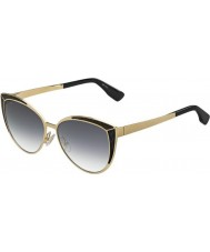 Jimmy Choo Ladies Domi-s psu 9c guld sorte solbriller