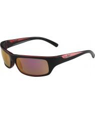 Bolle Fierce skinnende sort rosa polariseret rosa guld solbriller