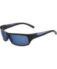 Bolle Fierce skinnende sort blå polariserede offshore blå solbriller