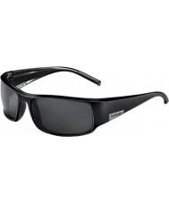 Bolle Kong skinnende sort polariseret TNS-solbriller