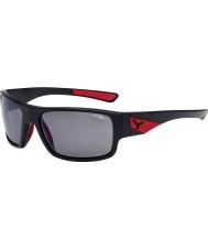 Cebe Whisper mat sort rød 1500 grå polariserede flash spejl solbriller