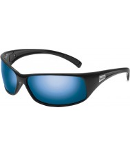 Bolle Rekyl skinnende sorte polariserede offshore blå solbriller