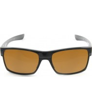 Oakley Oo9189-03 Two-Face poleret sort - mørk bronze solbriller