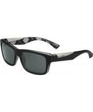 Bolle Jude mat sort argyle hvid polariserede TNS-solbriller
